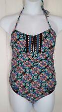 Nanette Lepore Tankini two piece swimsuit colorful print halter