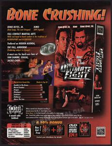 THE ULTIMATE FIGHT__Original 1999 Trade Print AD / ADVERT__Ernie Reyes Jr. / Sr.