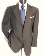 Luxury Canali Brown Fine Striped 2 PC Suit 3 Button 42 L pants 37 W /33 L