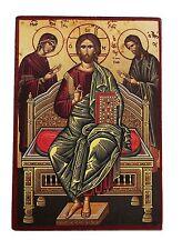 Greek Russian Orthodox Lithography Icon Deisis 19x13cm