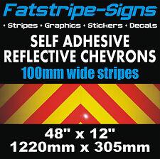 REFLECTIVE CHEVRONS SELF ADHESIVE VINYL KIT CARS VANS LORRIES GRAPHICS STICKERS