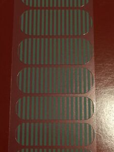 Jamberry Half Sheet - Aqua Stripe on Clear - Retired Stripes Great for Layers