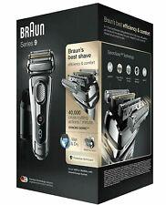 Braun Series 9 9297cc Wet&Dry Elektrorasierer mit Clean&Charge Reinigungs- und Ladestation und Leder-Reise-Etui - Chrom