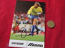 Mizuna  Dave BEASANT  Wimbledon  ORIGINAL Hand Signed FOOTBALL Photo