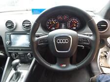 AUDI A3 STEERING WHEEL LEATHER BLACK W/ AUDIO & CRUISE TYPE HATCH 8P (S3