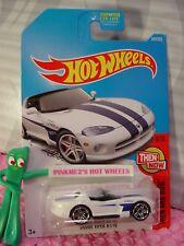 DODGE VIPER RT/10 #340✰white;blue stripes pr5✰THEN AND NOW✰2017 Hot Wheels Q