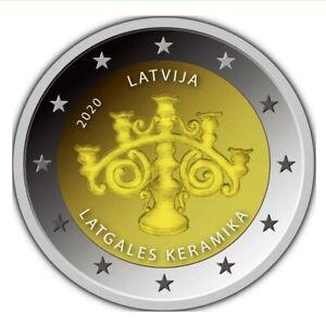 2 EURO LETTONIA 2020 - CERAMICA DELLA LETGALLIA - FDC UNC -