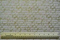BTHY 1/2 yd 100% cotton fabric Timeless Treasures Love words Happily Ever After