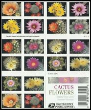 2019 US STAMP - CACTUS FLOWERS - FOREVER BOOKLET OF 20 - SC# 5350-5359