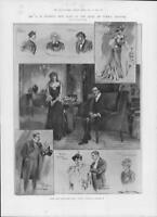 1903 Antique Print - LONDON Duke Yorks Pinero Play Letty Kerr Brooke Irving(262)