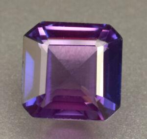 Natural Certified Bio Color Sapphire Purple Pink Emerald Cut 9.60 Ct Loose Gem