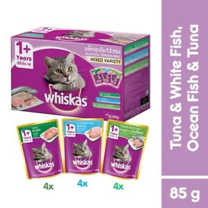 WHISKAS Pouch Multipack Cat Food Adult (12 Packs)