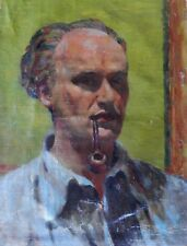 "Garth Williams ""Self Portrait with Pipe"" c1950"