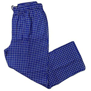 BROOKS BROTHERS Men's Small Flannel Pajama Lounge Pants Blue Black Check NWT