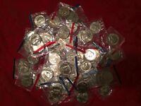 1971-1999 P, D Kennedy half dollars in Mint Cello BU set 52 coin Run US Coin Lot