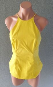 ❤️ BARDOT Fitted Sleeveless Blouse Top Yellow Size 10 Buy7=FreePost L882