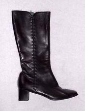 JEAN THIOT CHAUSSEUR bottes zippées  cuir noir P 43  TBE