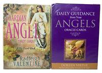Angel Tarot Cards Lot of 2 Doreen Virtue Radleigh Valentine Nib Guardian Oracle