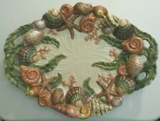 "New ListingFitz & Floyd Classics 3-D Seashells Relief Large Platter/Wall Hanging (18.5"")"