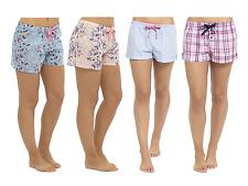 Womens Ladies Pyjama Shorts Lounge Pants PJ Bottom Nightwear Summer Check Floral