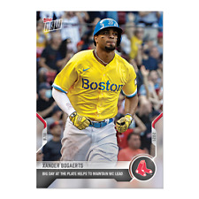 New listing 2021 TOPPS NOW #826 XANDER BOGAERTS BOSTON RED SOX HELPS KEEP WILD CARD LEAD