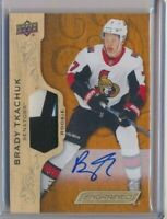 2018-19 Upper Deck Engrained Rookie Patch AUTO 70 Brady Tkachuk /35 Ottawa SENS