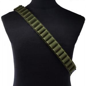 Tactical 12/20 Gauge Shotgun Ammo Shell Holder Bandolier Magazine Belt Shooting