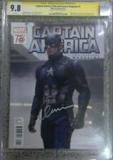 Captain America 75th Anniversary Magazine #1__CGC 9.8 SS__Signed by Chris Evans