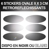 Stickers Réflecteurs Autocollant sécurité - Visibilité la Nuit - NOIR ou BLANC