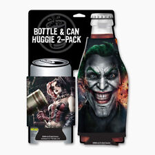 Harley Quinn and The Joker Gritty Can and Bottle Cooler Huggie Koozie 2 Pack NEW