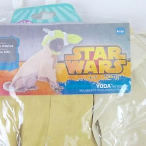 Star Wars Yoda Dog Costume Large New With Tags NWT