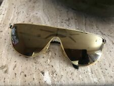 008b4be11c59 Laura Biagiotti Vintage Sunglasses Gold Metal Mirrored Pilot Excellent!