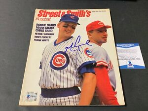 Mark Grace Chicago Cubs Autographed Signed Street & Smith's Magazine Beckett COA
