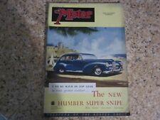 New listing November 29th 1950, MOTOR, Roy Fedden, Ken Burgess, John Godley, Godfrey Imhof..