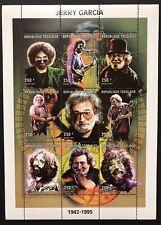 TOGO JERRY GARCIA STAMPS SHEET 1998 MNH MUSICIAN GRATEFUL DEAD ROCK BAND MUSIC