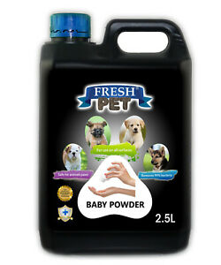 Fresh Pet Cleaner for Dogs & Cats Kennel Cleaner Baby Powder 2.5L Black