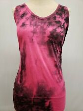 New North Face Women's Burnout Tank Top, Pink & Black Tie Dye, L, XL