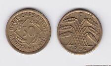 50 Rentenpfennig Messing Münze Weimarer Republik 1924 E Jäger 310 (115098)