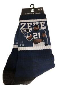 NIP Strideline Ezekiel Elliott  Socks New Size Med/large Dallas Cowboys