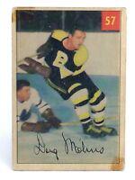 1954-55 Doug Mohns #57 Boston Bruins Forward Parkhurst Parkies Hockey Card G934