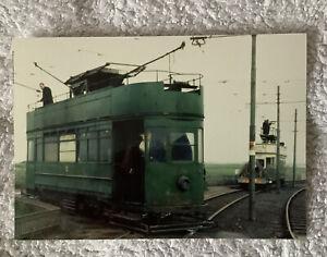 40 Colour Photographs Blackpool Trams, ( Size 12.5cm X 9cm Approx )
