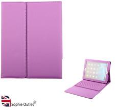 Wireless Bluetooth Folding Keyboard Case Cover Purple for iPad 2/3/4