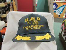Trucker Hat Baseball H & R PLUMBING Cool Style Snapback Retro