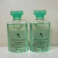 BVLGARI EAU PARFUMEE AU THE VERT SHAMPOO 1.3 OZ ~ 2 PIECE LOT