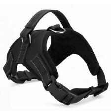 BLACK Print Adjustable Harness for medium sized Dogs with Chest Strap