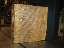 FIGURED WESTERN BIG LEAF MAPLE WOOD TURNING LUMBER 11x11x4 BOWL BLANK