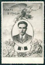 Militari WW2 WWII Soldato Uniforme Fanti d'Italia Foto cartolina XF7124