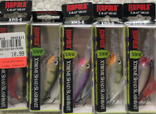 "(5) Rapala XRS-6 X-Rap Shad 2.5"" 5/16oz Dives 6-11' Good Colors 4Z"