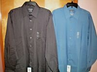 NWT NEW mens VAN HEUSEN l/s stretch flex dress shirt regular fit $55 retail