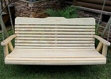 Classic Amish Heavy Duty 700 Lb 4ft. Porch Swing-Natural-Made in Usa